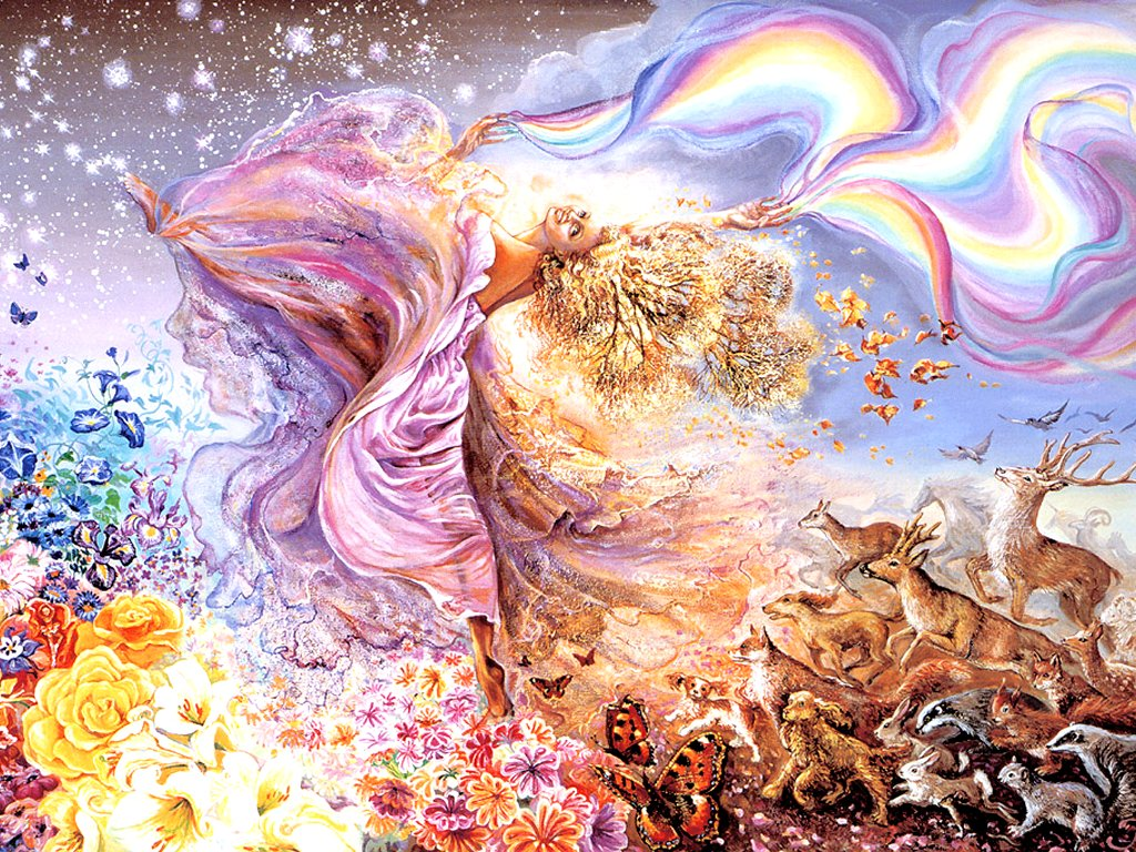 Paint Rainbow Girl Wallpapers: JOSEPHINE WALL